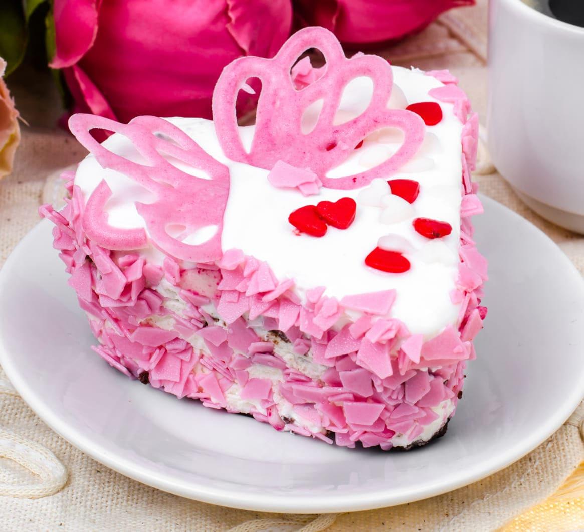 Торт на день влюбленных