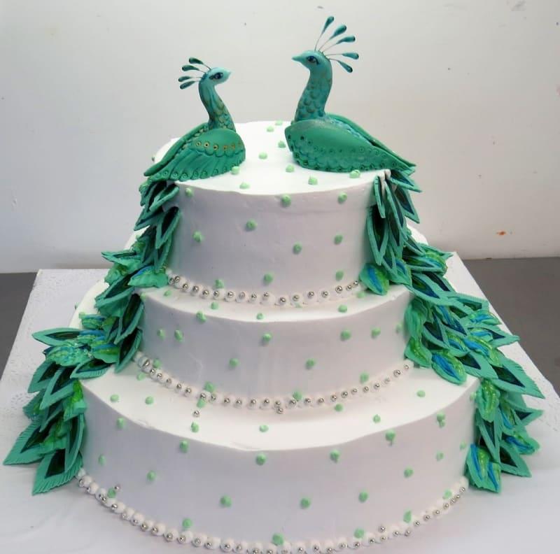 Торт павлины