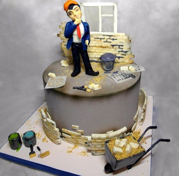 Торт на день строителя