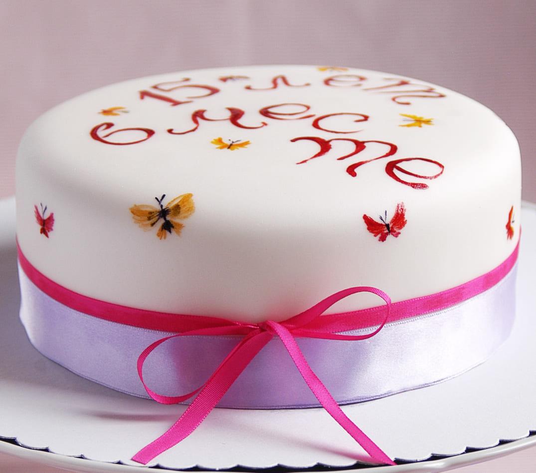 Торт на хрустальную свадьбу