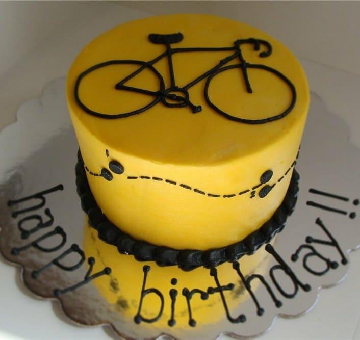 Торт с велосипедом